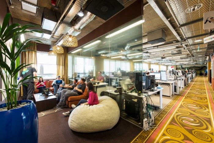 Attractive Lounge Space In Google Office Including Modern
