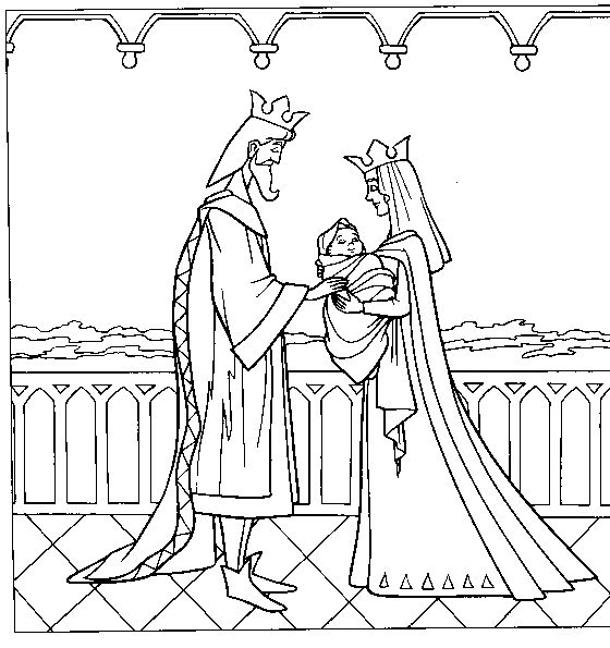 Kings And Queens Was Holding Her Child Coloring PagesColoring