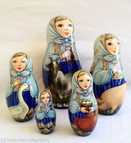 Farm Girls nesting doll