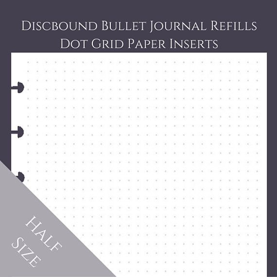 Dot Calendar Bullet Journal : Half size discbound arc junior bullet journal dot grid