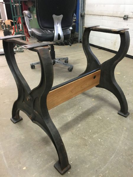 High Quality Cast Iron Table Base Stretcher Can Be Made To Any Length(pipes Only , Wood  · Industrial Table LegsVintage ...
