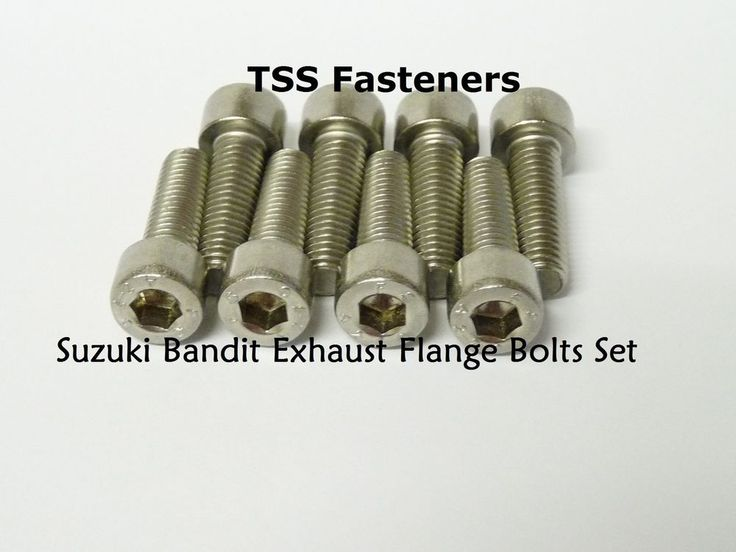 Suzuki GSF600/GSF1200/GSF1250 Bandit Exhaust Flange Bolts Set - Stainless Steel    eBay