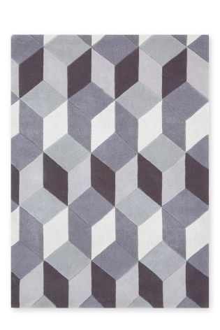 Buy Bold Carved Geo Charcoal Rug from the Next UK online shop
