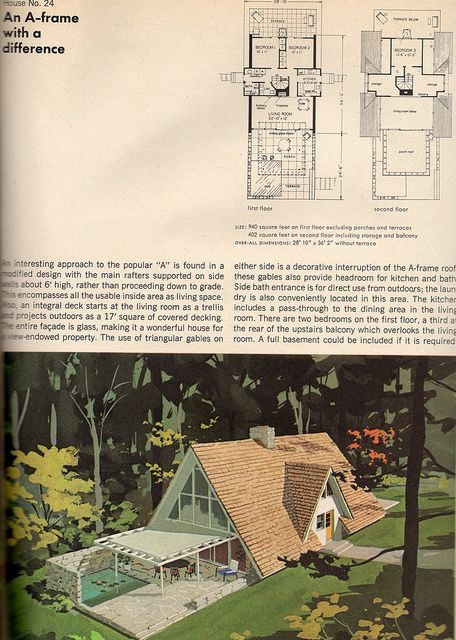 An A-frame with a difference-vintage A-frame floor plan | Flickr - Photo Sharing!