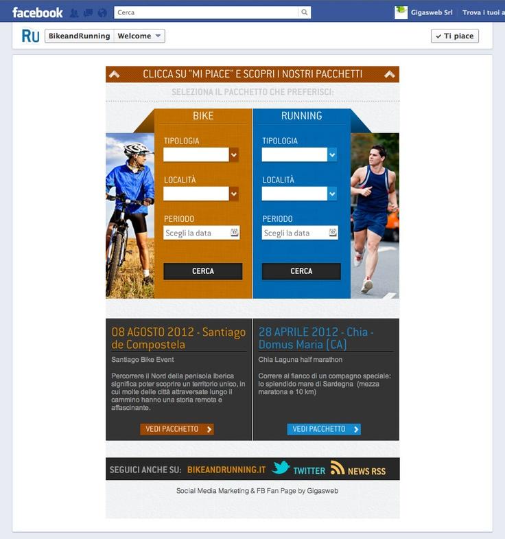 Cliente: Bike and Running  Attività: Realizzazione creatività e sviluppo fanpage interattiva.