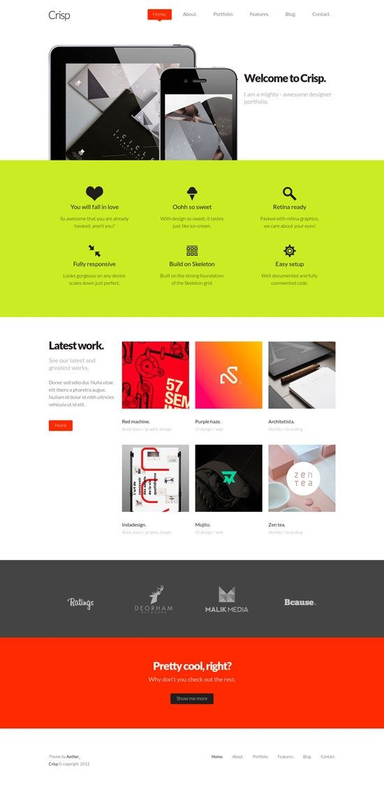 Colors work well together. Nice minimalistic approach.