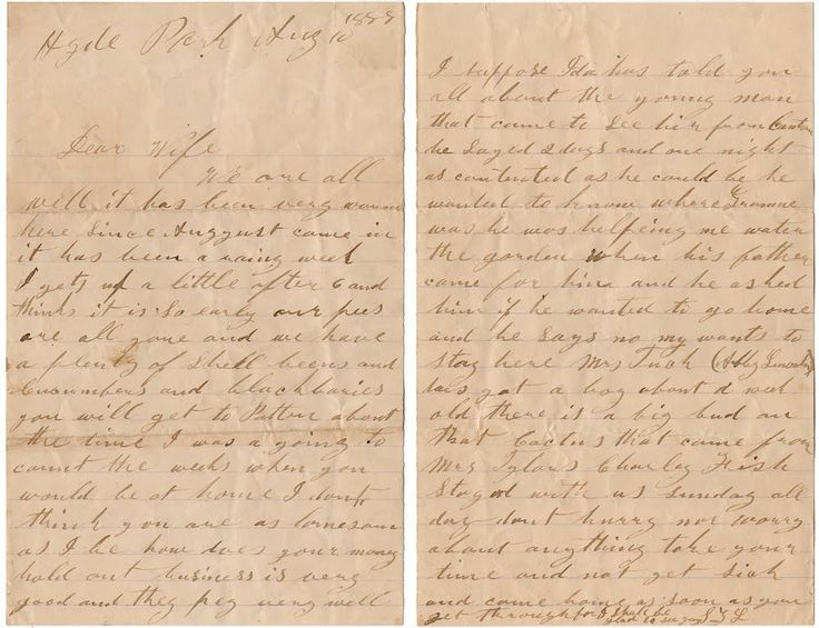 how to write a old fashioned letter