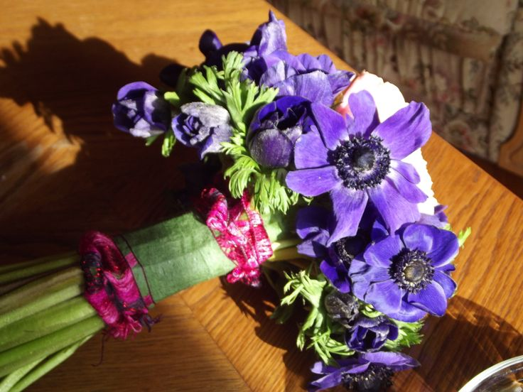 Beautiful anemones for a special bridesmaid