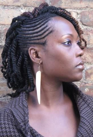 two strand twist with extensions | Two Toned Nubian twists braided hairstyle