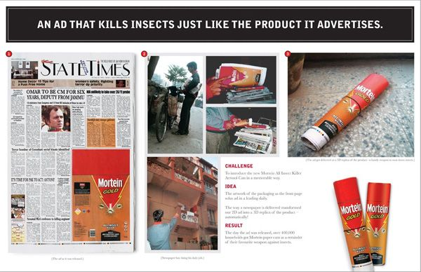 Mosquito Repellant Guerilla Marketing Ad