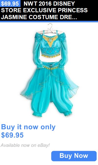 Halloween Costumes Kids: Nwt 2016 Disney Store Exclusive Princess Jasmine Costume Dress Up S 5/6 BUY IT NOW ONLY: $69.95