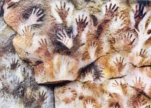Cave of the Hands (Cueva de las Manos) Santa Cruz, Argentina. (famous for the paintings of hands, that date from 13,000-9,000 years ago). Photo by James P. Blair