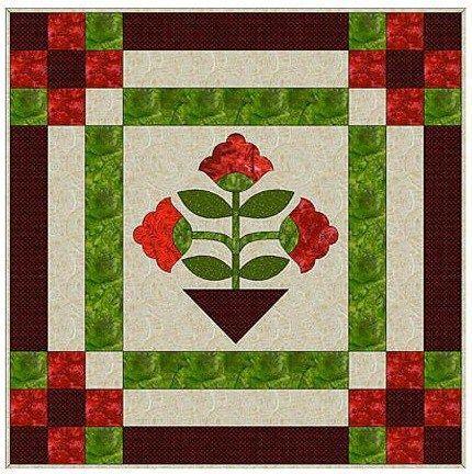 Easy Floral Appliqué Mini Quilt Pattern