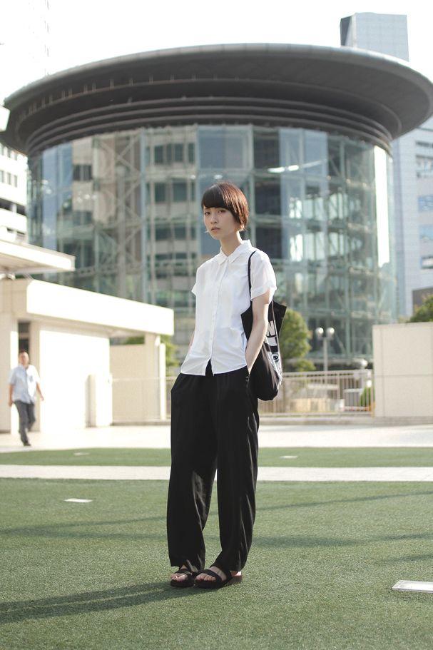 Name: Yuho Uchida | 内田佑朋 Occupation: Model | モデル Shirt: UNIQLO | ユニクロ Trousers: Used | 古着 Shoes: MUJI | 無印良品 Bag: SWAG | スワッグ