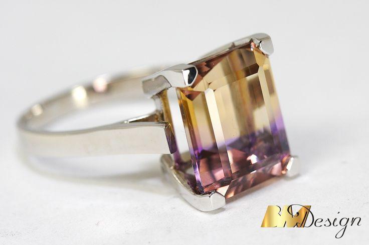 Pierścionek z amertynempierścionek z kolorowym kamieniem naturalnym biżuteria na zamówienie autorska biżuteria Rzeszów BM Design złotnik Rzeszów Jubiler Rzeszów Biżuteria Rzeszów