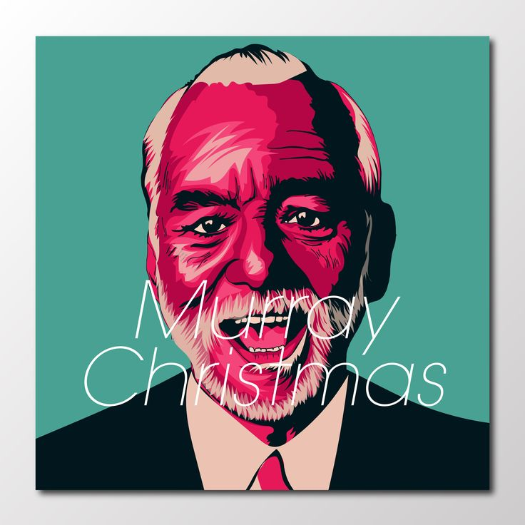 #project366 an #illustration a day continues with...  Murray Christmas!!   #billmurray #murraychristmas  #newart #design #designer #graphicdesign #graphics #sketch #sketchbook #portrait #popculture #designinspiration #comedy #film #retroart  #classicfilm #christmas #christmasday