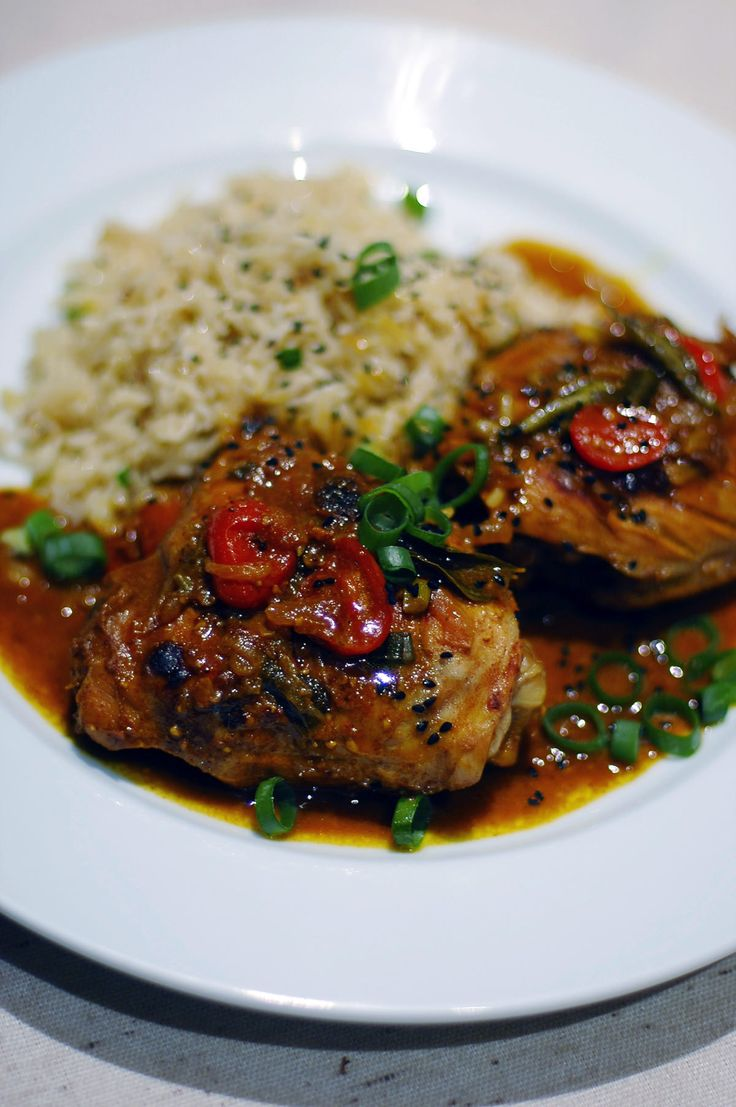 Mumbai style chicken with rice pilaf