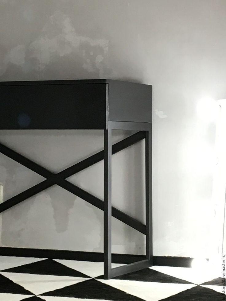Купить Стол URBAN - черный, стол, стол гримера, стол визажиста, стол с ящиком