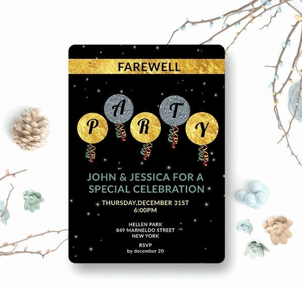 Farewell Party Invitation Template Awesome 42 Party Invitations Free Psd Vector Ai Ep Party Invite Template Farewell Invitation Card Farewell Party Invitations