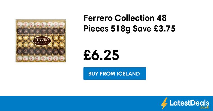 Ferrero Collection 48 Pieces 518g Save £3.75, £6.25 at Iceland