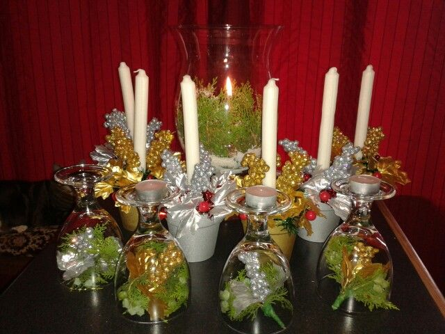 Budget Christmas centre pieces