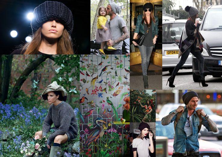 Даже Виктория Бэкхем любит головные уборы, шляпки и шапки. Использует их в своих коллекциях. А мужественный Дэвид вообще не расстается с вязаными beanie.