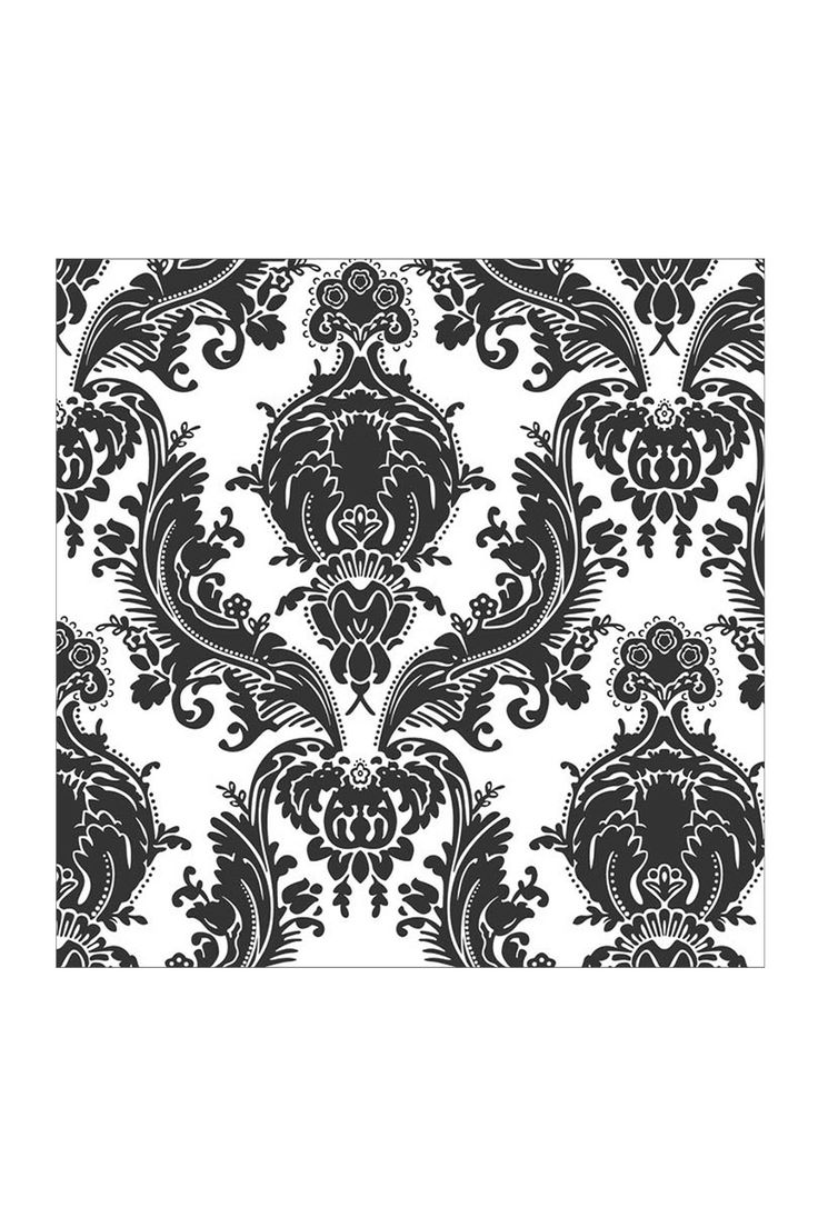 Charcoal Heirloom Damask Removable Wall Decal