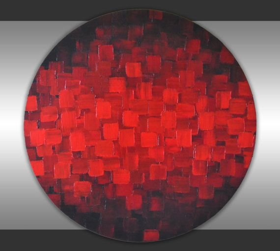 Original Contemporary Fine Art Abstract Textured Art by ZarasShop