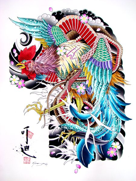 78 best images about rooster tattoo inspiration on pinterest artworks new orleans tattoo and - Cock designing ...