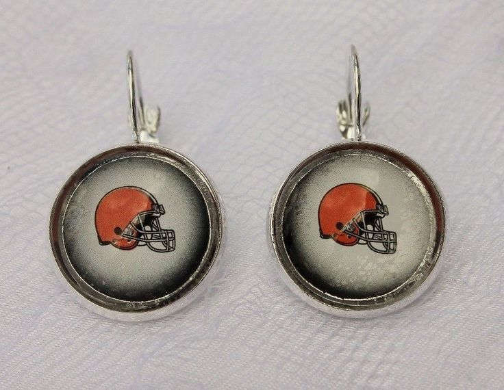 Cleveland Browns Earrings made from Football Trading Cards #ClevelandBrowns