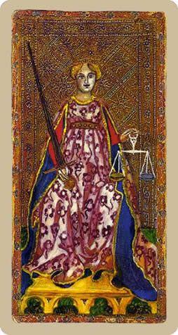 Cary-Yale Visconti Tarot - Justice