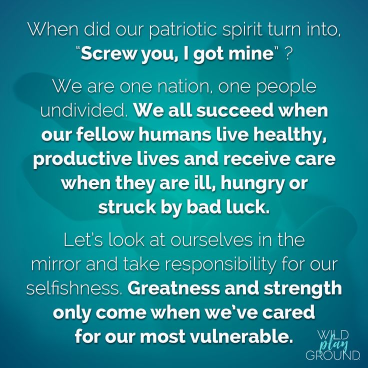 What is patriotism to you? Is it REALLY about caring for the good of all, or is it just you and yours? Would we be a healthier society if we could be our brothers' and sisters' keeper with love and care? We think so.