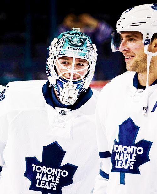 Jonathan Bernier & Joffrey Lupul • Toronto Maple Leafs • Source: jamessreimer.tumblr.com