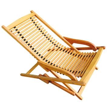 Luxo Woodford Eucalyptus Timber Outdoor Deck Chair