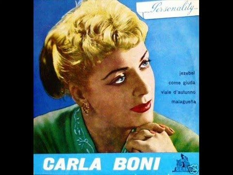"Carla Boni sings ""Viale d'autunno"" [Autumn Boulevard], with conductor Cinico Angelini and his Orchestra. This song won the Sanremo Festival in 1953."