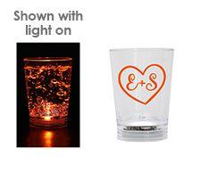 1.25oz Light Up Acrylic Wedding Shot Glass