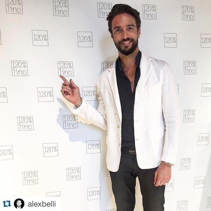 #Repost @alexbelli with @repostapp. ・・・ Più dell 100%...... 120%lino  By @avenuepr  #fuorisalone #axb  #120percento #120lino #newopening #opening #store #brera #pontaccio #linen #fashion #linencollection #collection #womanswear #menswear #alexbelli #events #event #nahoor #sartorial #fuorisalone #salonedelmobile #party #jacket #white #actor #decor #interior #guest