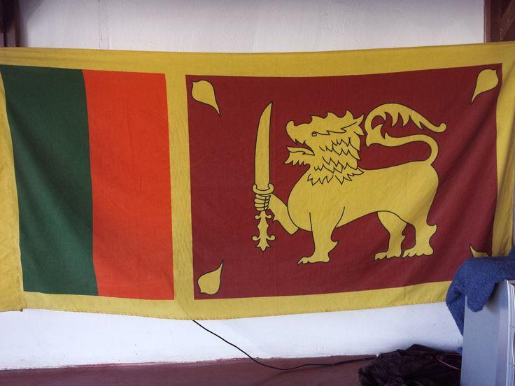 Le drapeau du Sri Lanka.  #endirect #srilanka #zagausrilanka