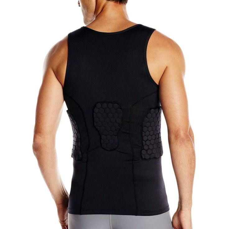 Amazon DGXINJUN Mens Safe Guard Padded Compression Sports Protective Shirt Training Vest Tank