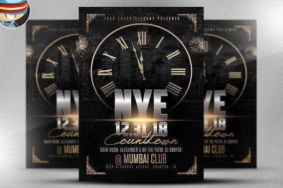 NYE Countdown Flyer Template 2 by FlyerHeroes on @creativemarket