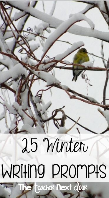 This post has fun winter writing prompts to help your students write creatively. Can be used as a whole class activity, for writing journals, in writing centers, or even as homework.