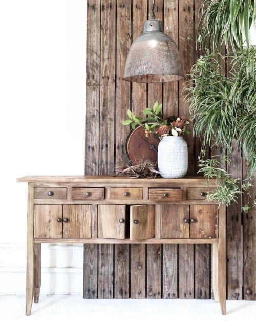 Village - Time Worn Bring elements of past & present to create a rustic-home full of history. This creates a space of comfort & grounding. We used an old antique merchant scale mixed back with our reclaimed timbers to bring this look together. Featured: Rustic Elm Console, Iron Mesh Pendant. Explore our products online & in stores today. Showrooms: Bundall & Burleigh Online: www.villagestores.com.au (at Village Stores)
