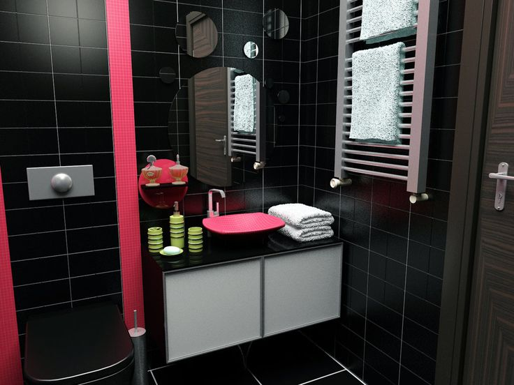 Best 25 Pink Bathrooms Designs Ideas On Pinterest  Pink Enchanting Small Black Bathrooms Design Inspiration