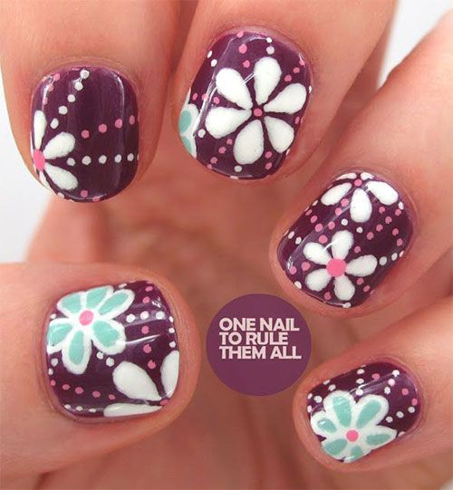 50 Amazing Nail Art Designs Ideas For Beginners Learners 2013/ 2014 | Fabulous Nail Art Designs