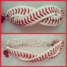 Infinity Baseball Bracelet by InspiredDesignByKari on Etsy, $12.00