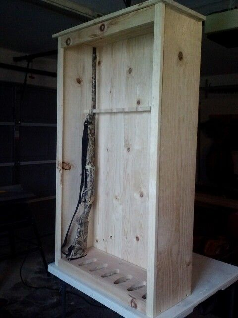 Beau Pine Gun Cabinet In The Making