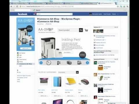 Facebook eCommerce Shop - Presentation, Install, Configurate, Application Step 2