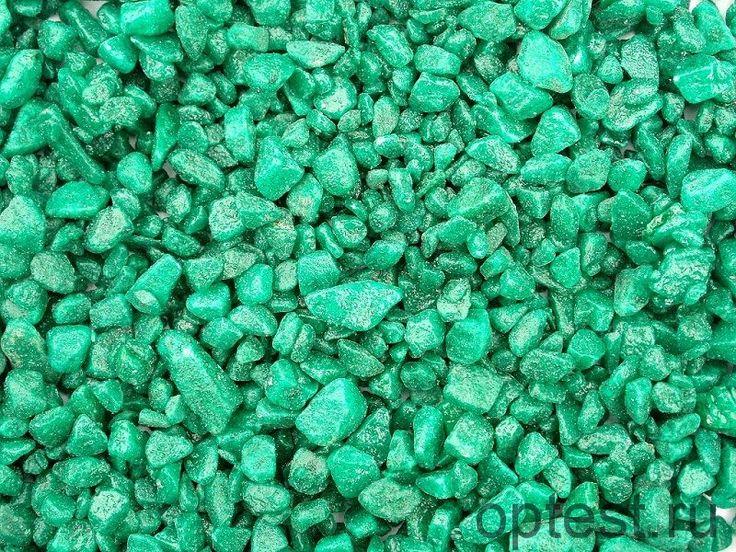 Зеленый декоративный щебень оптом