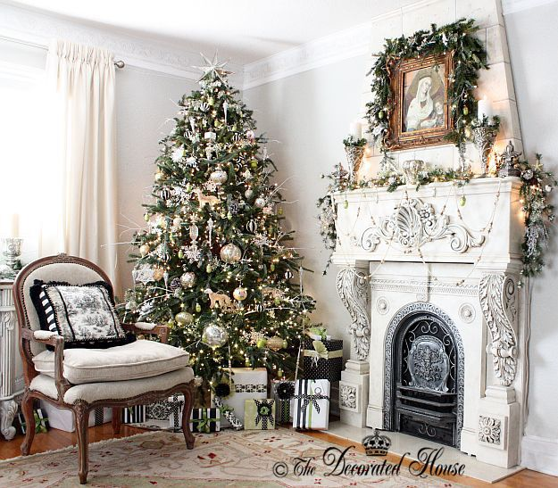 Christmas Tree With Silver Decorations: 381 Best Images About Christmas! Winter & New Year's Eve