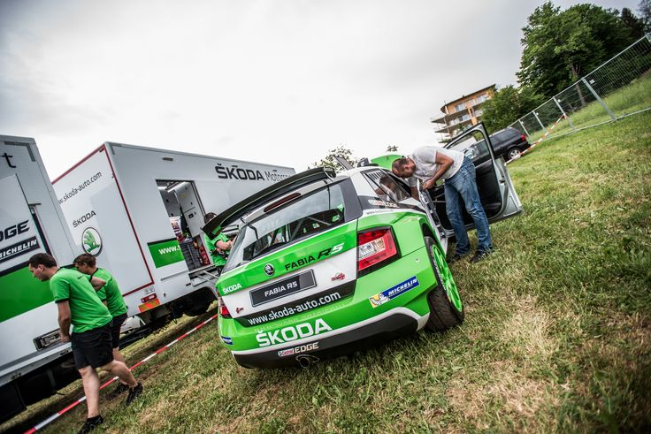 Pit stop by ŠKODA Motorsport on Wörthersee. #skoda #R5